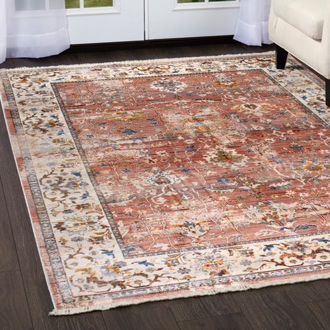 """Rutherford Gray Area Rug with Ivory Border - 31""""x50"""""""