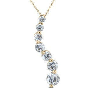 2.00 Carat TW Diamond Journey Pendant in 14K Yellow Gold (K-L Color, I2-I3 Clarity)
