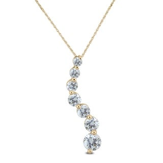 1/4 Carat TW Diamond Journey Pendant in 10K Yellow Gold