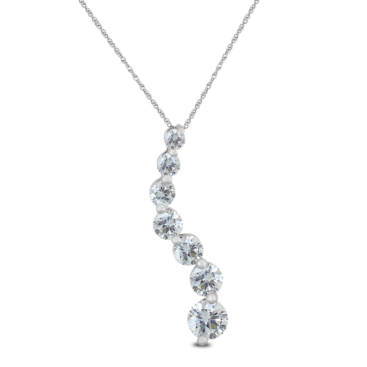 015645f39 Shop 1/4 Carat TW Diamond Journey Pendant in 10K White Gold - On Sale -  Free Shipping Today - Overstock - 20751944