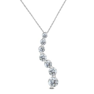1/4 Carat TW Diamond Journey Pendant in 10K White Gold