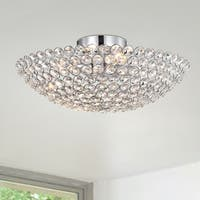 Nanise  4-Light Crystal Bowl Semi-Flush Ceiling Lamp