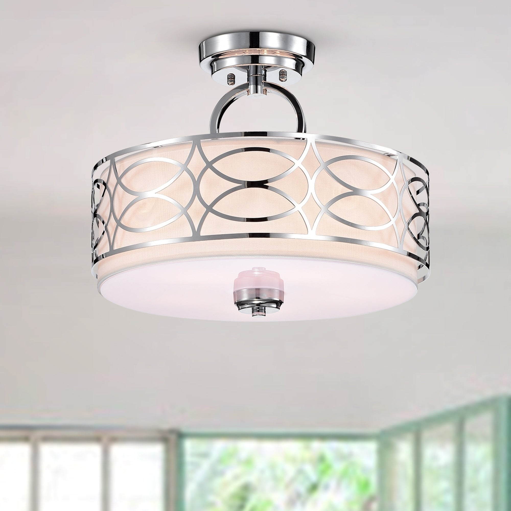 Spennz 5 Light Chrome Design Semi Flush Mount Ceiling Lamp