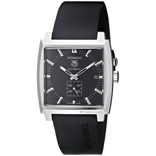 Tag Heuer Men's WW2110.FT6005 'Monaco' Automatic Black Rubber Watch