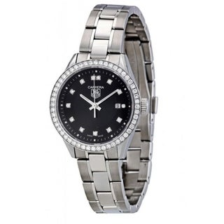 Tag Heuer Women's WV1412.BA0793 'Carrera' Diamond Stainless Steel Watch