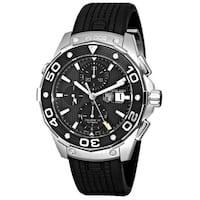 Tag Heuer Men's CAJ2110.FT6023 'Aquaracer' Chronograph Automatic Black Rubber Watch