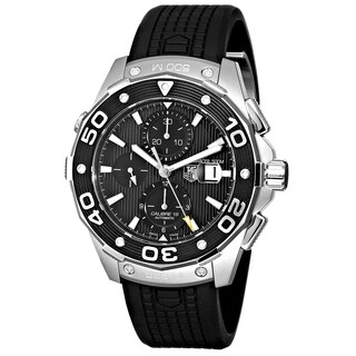 Tag Heuer Men's CAJ2110.FT6023 'Aquaracer' Chronograph Automatic Black Rubber Watch
