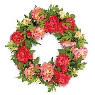 Lush Silk Garden Peony Wreath (2 options available)
