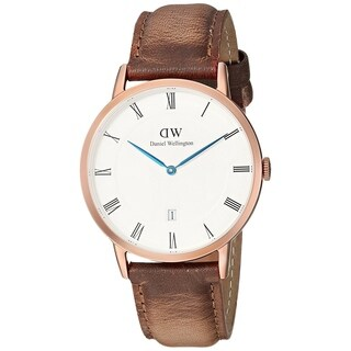 Daniel Wellington Men's 'Dapper' Durham Brown Leather Watch