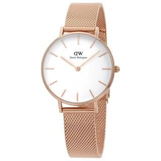 Daniel Wellington Women's DW00100163 'Petite Melrose' Rose-Tone Stainless Steel Watch