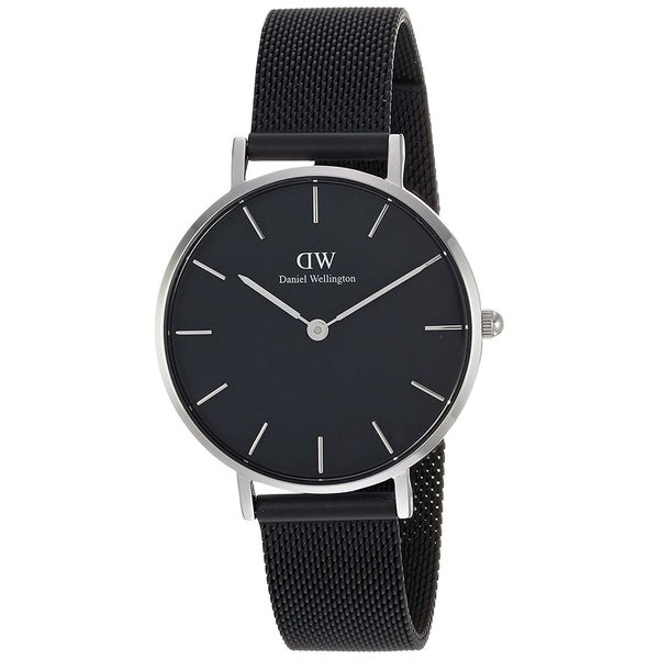 e0fef1f04e07 Shop Daniel Wellington Women s  Classic  Petite Black Stainless Steel Watch  - Free Shipping Today - Overstock - 20752567