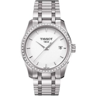 Tissot Women's T0352106101100 'Couturier' Diamond Stainless Steel Watch