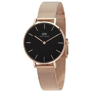 Daniel Wellington Women's 'Petite Melrose' Rose-Tone Stainless Steel Watch