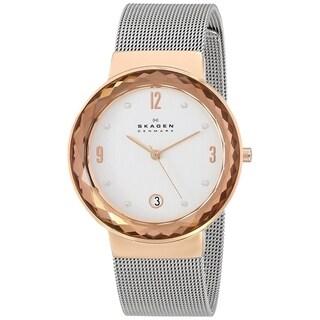 Skagen Women's 456LRS 'Leonora' Crystal Stainless Steel Watch