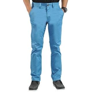 Mens Stretch Cross Belt Chino Straight Leg Pants Regular Vulcan (5 options available)
