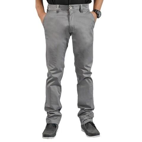Mens Stretch Chino Straight Leg Pants Regular Dark Gray