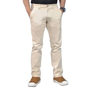 Mens Stretch Chino Straight Leg Pants Regular Stone