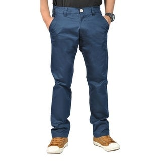 Mens Stretch Chino Straight Leg Pants Regular Navy