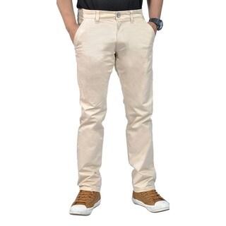 Mens Stretch Chino Straight Leg Pants Regular Stone (4 options available)
