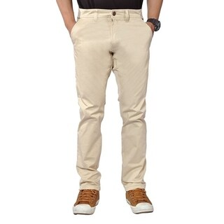 Mens Stretch Cross Belt Chino Straight Leg Pants Regular Stone