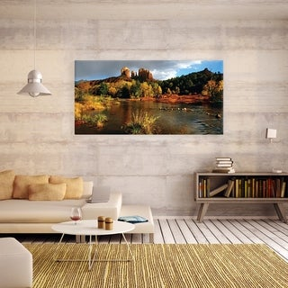 Red Rock Crossing' 24x48 Canvas Wall Art
