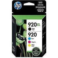 HP 920XL/920 High Yield Black,Standard C/M/Y Original Ink Cartridges, N9H61FN,4PK