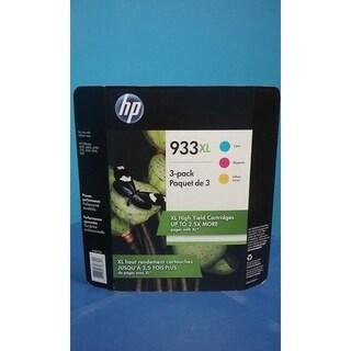HP 933XL High Yield C/M/Y Ink Cartridges, D8J65BN, Combo Pack