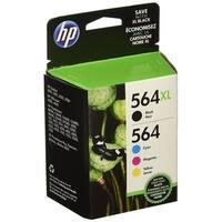 HP 564XL/564 High Yield Black and Standard C/M/Y Original Ink Cartridges,N9H60FN,Combo PacK