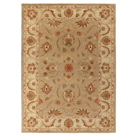 Copper Grove Karelini Hand-tufted Bordered Wool Area Rug(5' x 8'
