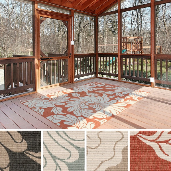 Maison Rouge Merrell Contemporary Floral Indoor/ Outdoor Runner Rug