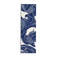 The Curated Nomad Montego Hand-hooked Coastal Area Rug - 2'6 x 8'