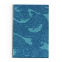 The Curated Nomad Montego Hand-hooked Coastal Area Rug - 2' x 3'