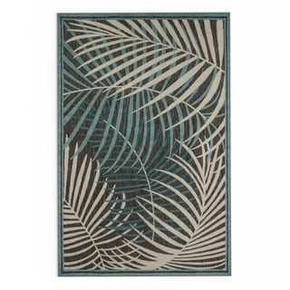 Carson Carrington Brautarholt Indoor/ Outdoor Area Rug (Teal - 39 x 58)