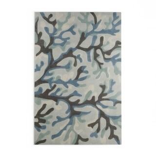 Porch & Den Blakeney Hand-tufted Area Rug - 8 x 11 (Blue/Brown - 8 x 11)