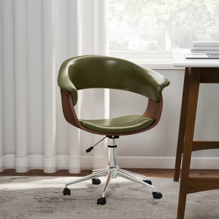 Link to Carson Carrington Heby White/ Wood Adjustable Office Chair Similar Items in Home Office Furniture