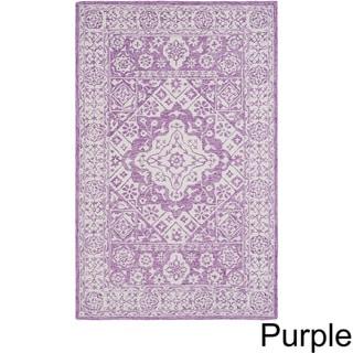 Copper Grove Sandbank Hand-hooked Wool Area Rug (Purple - 9 x 13)