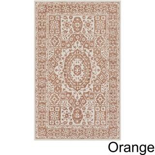 Copper Grove Sandbank Hand-hooked Wool Area Rug (Orange - 9 x 13)