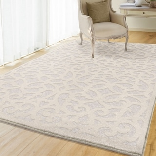 "The Gray Barn Blustery Buffalo Natural/ Ivory Flatweave Area Rug - 7'9"" x 10'10"""