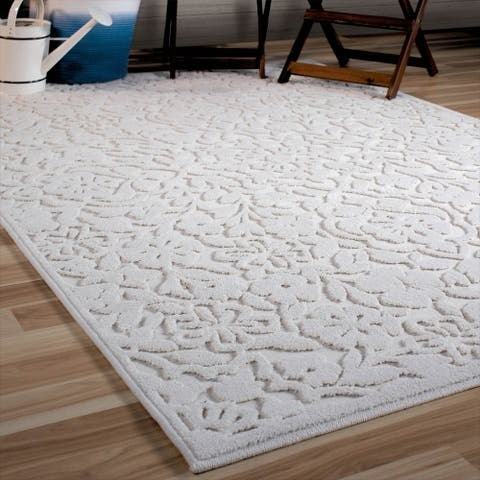 Orian Rugs Boucle Cottage Floral Natural