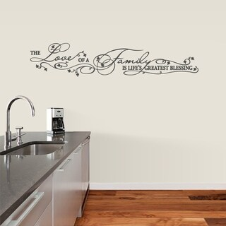 Life's Greatest Blessing Wall Decal