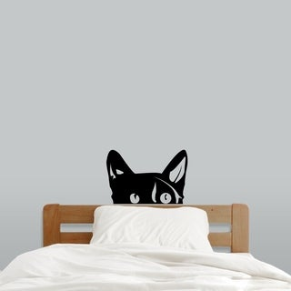 Peeping Cat Wall Decal