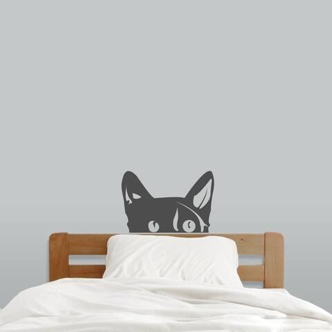 Peeping Cat Wall Decal