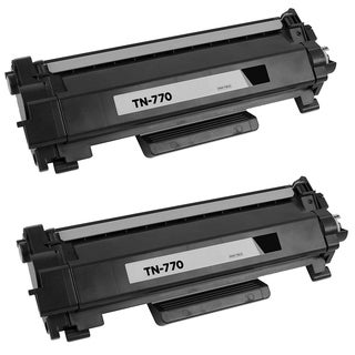 2PK Compatible TN770 Toner Cartridge For Brother HL-L2370DW HL-L2370DWXL MFC-L2750DW MFC-L2750DWXL ( Pack of 2 ) - Black