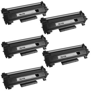 5PK Compatible TN770 Toner Cartridge For Brother HL-L2370DW HL-L2370DWXL MFC-L2750DW MFC-L2750DWXL ( Pack of 5 ) - Black