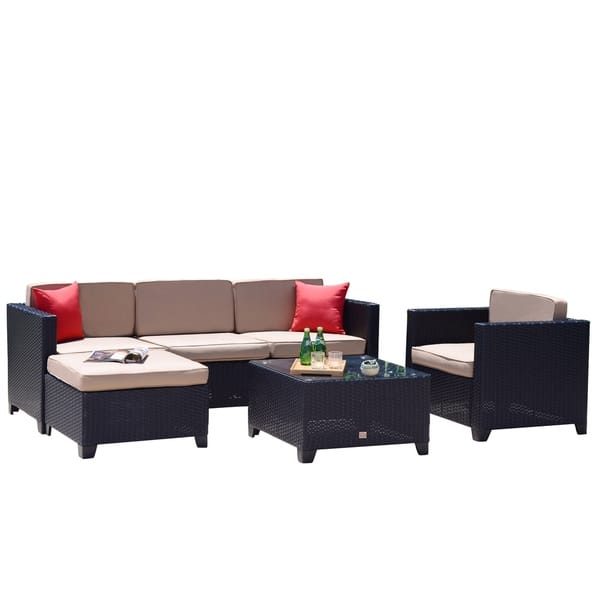 Grant Black Outdoor Sectional Sofa