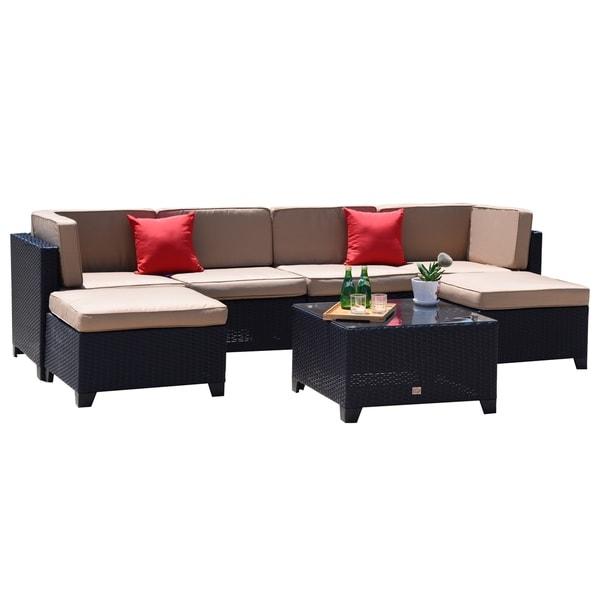Magnificent Patio Furniture Accessories Outsunny 6Pc Stackable Outdoor Inzonedesignstudio Interior Chair Design Inzonedesignstudiocom
