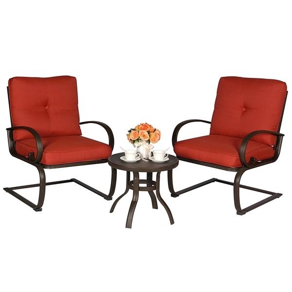 Bistro Table Set Outdoor Bistro Set Patio Cafe Furniture Seat Wrought Iron Bistro Set Garden  sc 1 st  Overstock.com & Bistro Table Set Outdoor Bistro Set Patio Cafe Furniture Seat ...
