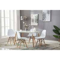 Porthos Home Modern Dining Chairs in White with Stylish Beechwood Legs