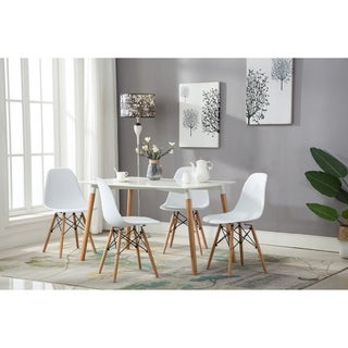 Link to Porthos Home Modern Dining Chairs in White with Stylish Beechwood Legs Similar Items in Dining Room & Bar Furniture