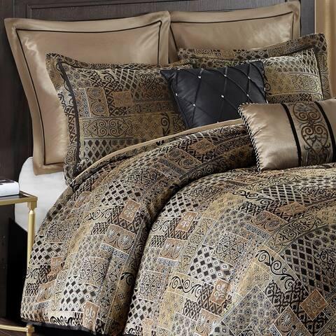 Madison Park Belgian 8 Piece Chenille Jacquard Comforter Set
